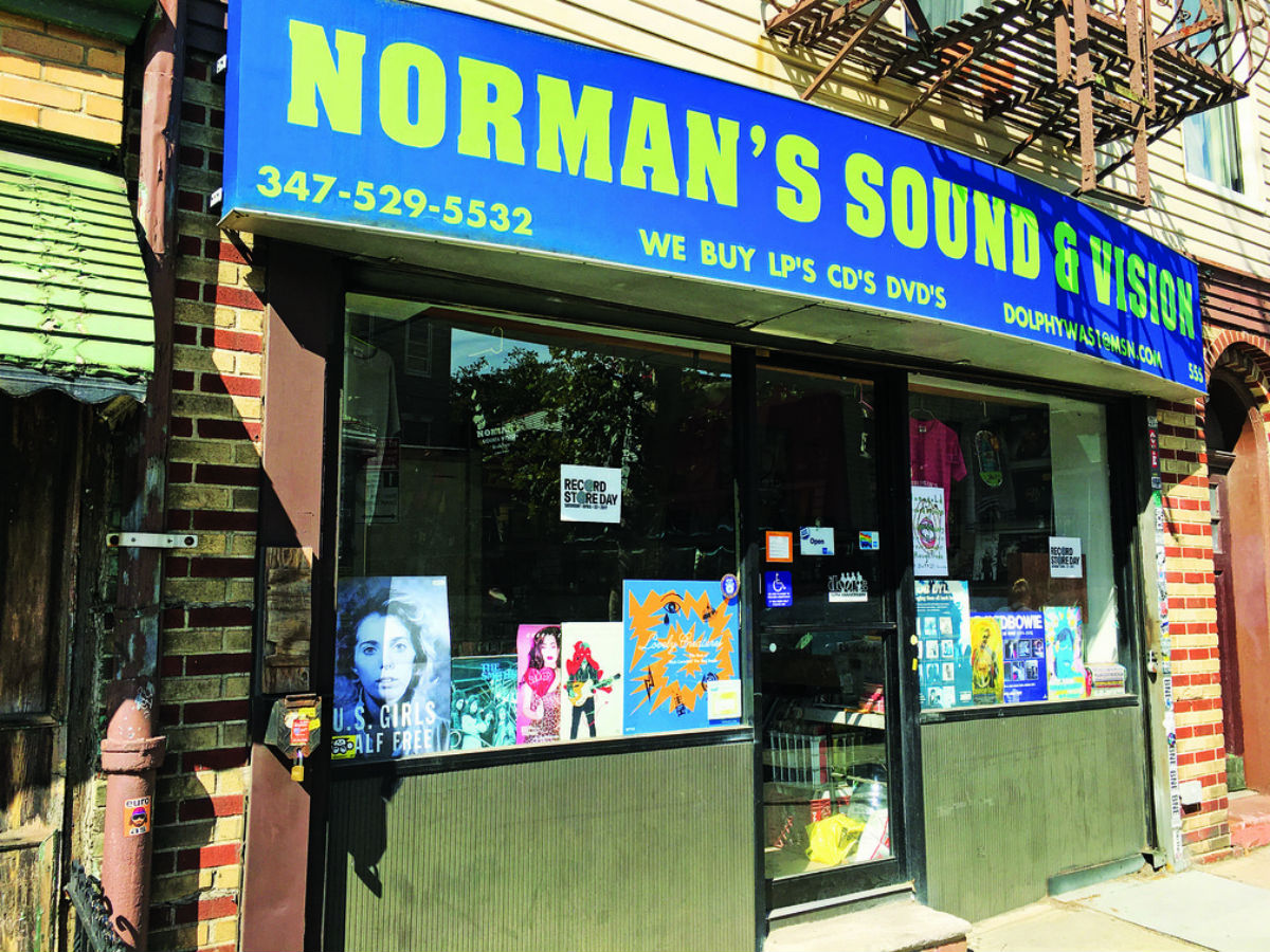 Norman's New York record shop