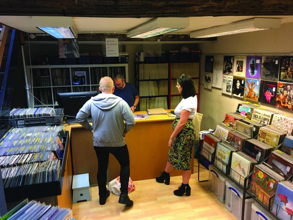 Relics record shop Leeds
