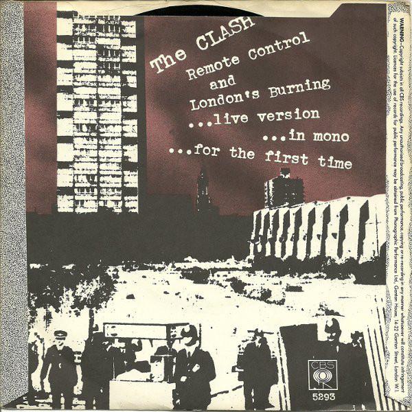 REMOTE CONTROL (BACK COVER) The Clash